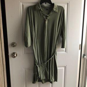 Olive green 3/4 sleeve dress